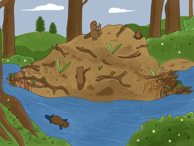 open source software illustration beavers