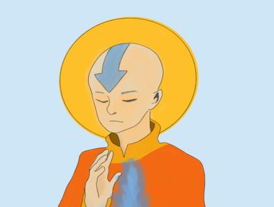 Aang procreate avatar the last airbender
