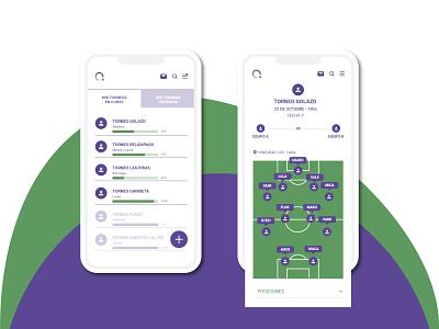 COMBA APP - UX UI soccer ux ui app interaction design