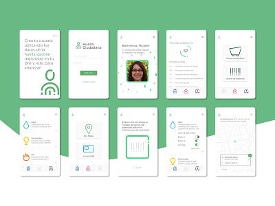 Huella Ciudadana - UX UI ux ui app interaction identity design