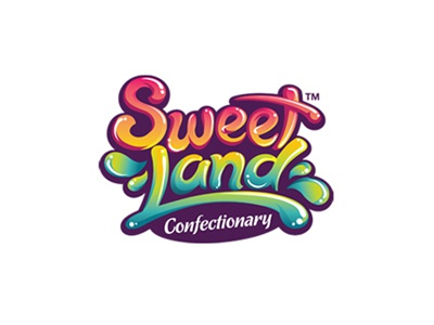 Sweet Land (not for sale) logotype candy sweet confectionery vibrant colorful type fun logo