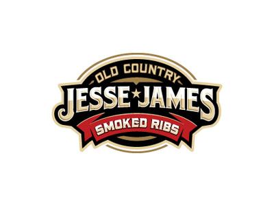 Jesse James logo oronoz ribs western old west food restaurant