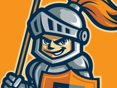 Banner Tournament Mascot mascot banner shield helmet knight