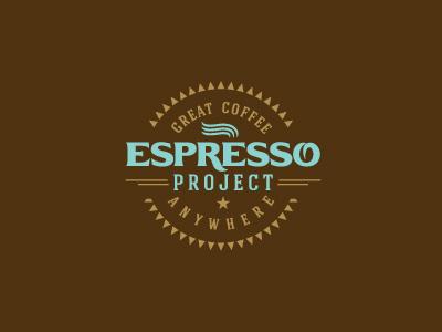 Espresso Project coffee vintage logo cafe espresso bean coffee house coffee bean