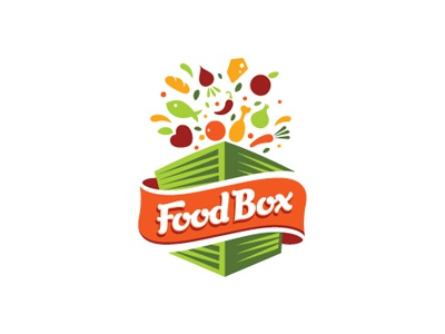 Food Box cheese box vegetables carrot fish logo tomato chilli restaurant food