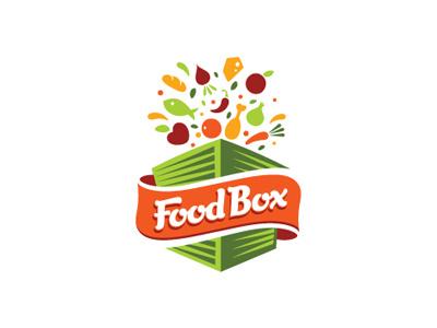 Food Box cheese box vegetables carrot fish logo tomato chilli restaurant food