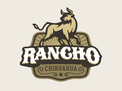 Rancho illustrative toro crest ranch horns rancho bull oronozdesign alanoronoz oronoz