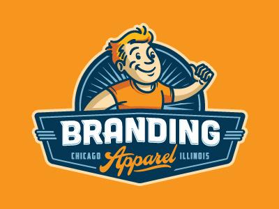 Branding Apparel mascot cartoon vintage retro logo screen printing wear t-shirts apparel