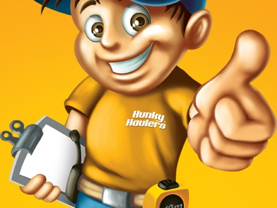 Hunky Characters character illustration smile thumbsup eyes happy hat kids kid construction