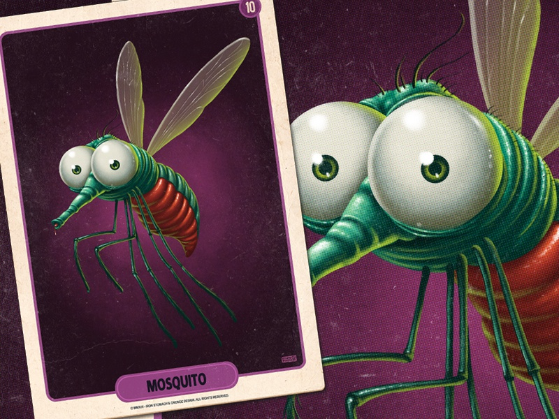 Mosquito mosquito vintage retro mobile game mobile digital painting card art illustration game art pulp art pulp card game boardgames boardgame