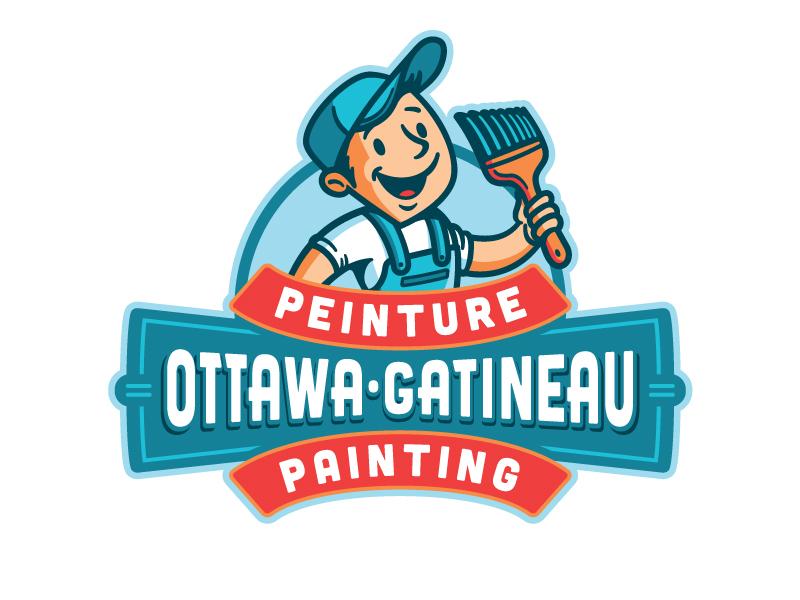Ottawa Gatineau Painting brush painter painting vintage retro mascoting mascot logo