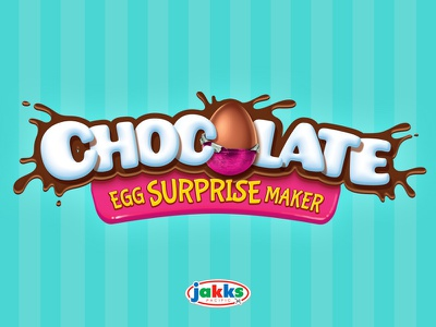 Chocolate Egg Surprise Maker chocolate kids logo toy toy branding toy logo logo