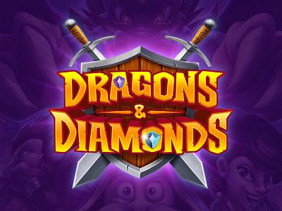 Dragons And Diamonds fantasy swords shield diamonds dragons dragon game mobile game mobile app mobile