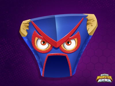Macho Cheese mask macho luchador lucha vector toy design toy kids infla
