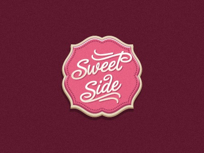 Sweet Side candy sweet pink logo oronoz badge cupcake