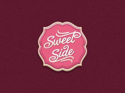 Sweet Side candy sweet pink logo oronoz badge cupcake