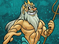 Triton character design characterdesign digital illustration digital painting illustration retro cartoon cartoon 30s retro vintage mermaid mermay sea triton