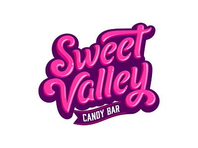 Sweet Valley sweet valley sweet valley candy candy bar pink yummy cute type custom lettering custom type logotype tasty sweets food glossy