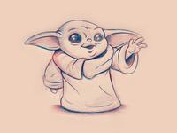 Baby Yoda Sketch