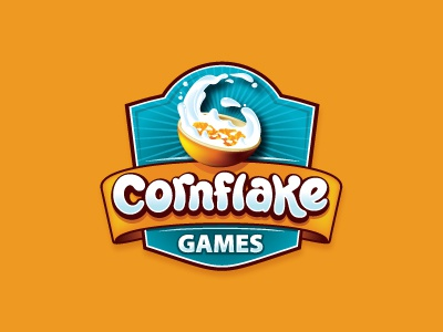 Cornflake Games cornflake breakfast motion game games logo app milk oronoz