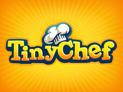 Tiny Chef Logo app logo chef hat yellow