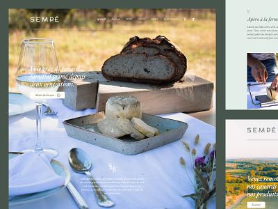Sempé • Webflow ecommerce homepage ui design ecommerce design ecommerce shop ecommerce food products diner lunch table wine glass bread photography webdesign website webflow craft producteur agriculture foie gras