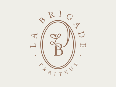 La Brigade - Catering & food services branding logotype brand typography logo wedding ornement badge custom type type monogram quality restaurant food catering caterer