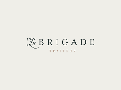 Secondary logo for La Brigade - catering & food services caterer high-end service food wedding script font catering serif script logotype brand typography logo type