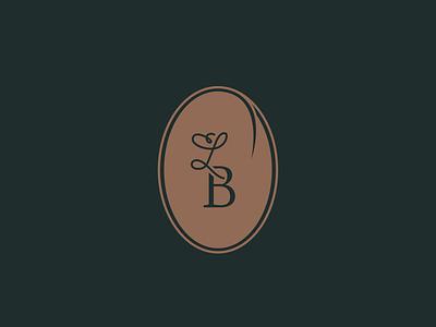 Monogram badge for La Brigade - catering & food services serif script responsive logo catering caterer restaurant custom type food branding vintage logotype brand typography logo type badge monogram