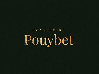 Domaine de Pouybet - rebranding logotype winery vineyard serif gold foil bat wine typography type branding brand logo