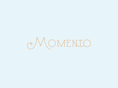 Momento - Catering services restaurant font quality high end service hand lettering serif custom type logotype brand typography logo type weddings food catering caterer