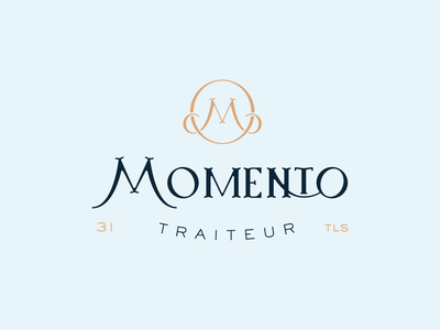 Momento - Catering services momento moment caterer catering responsive branding custom type serif food branding vintage badge logotype brand type typography logo