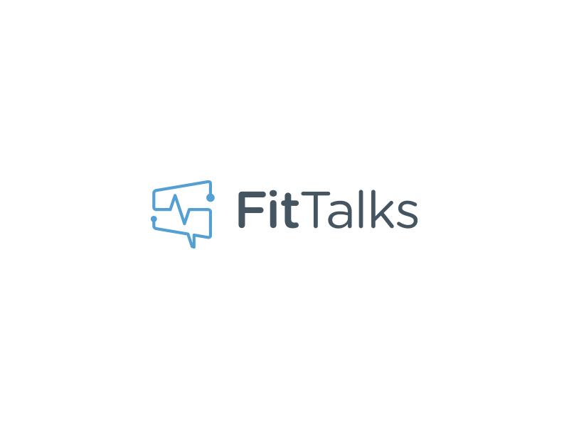 FitTalks Logo design identity logo fitness communication branding