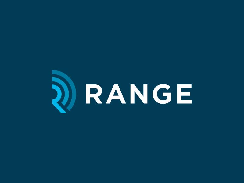 Range Final blue range color simple identity branding icon wordmark logo
