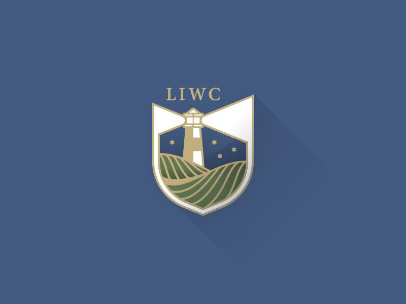 Badge identity shapes geometry lighthouse symbol mark icon logo clean branding design