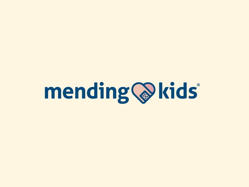 Unused Wordmark identity lockup type bandaid heart kids icon wordmark logo design