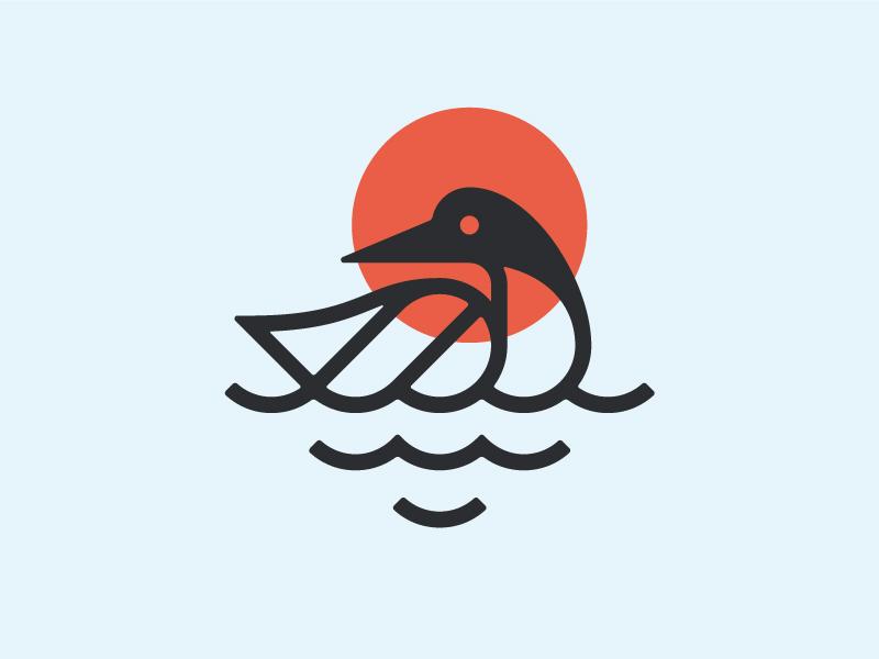 THORSON #1 icon design small goods north minnesota bird loon identity branding mark logo