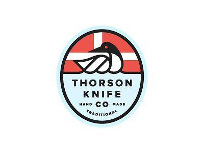 Thorson 01 Badge small goods nordic minnesota loon bird branding mark icon shield badge logo design