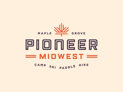 Pioneer Midwest midwest mark icon typography color lockup logo branding identity design