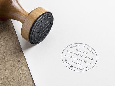 Address Stamp logo rubber stamp stamp branding seal design engagement wedding