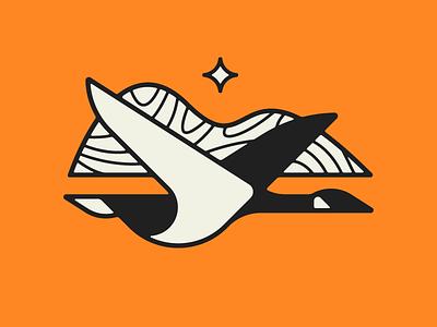 Northern Bound north icon goose bird illustration branding logo identity