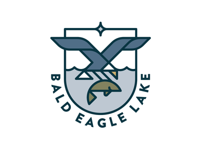 BEL V01 modern bird eagle minnesota lake crest badge shield identity logo design branding