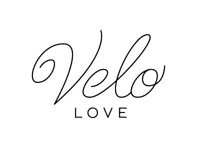 Velo Love branding identity vintage script logotype wordmark logo typography