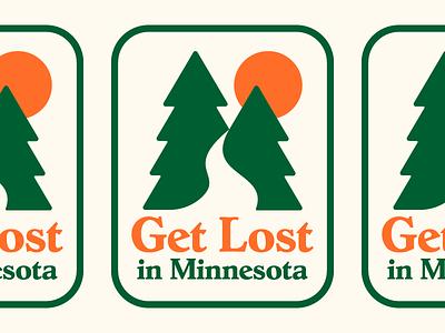 Get Lost identity typography illustration sticker minnesota logo branding design