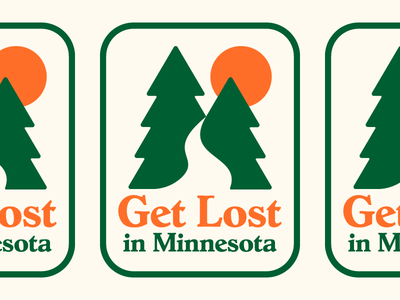 Get Lost identity typography illustration sticker minnesota logo branding design