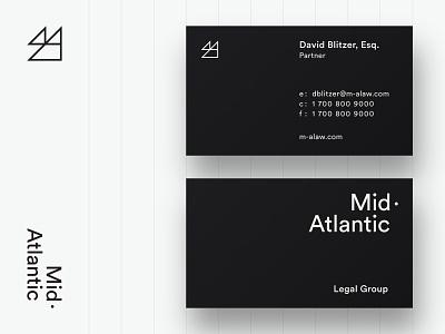 M-A Legal Group wordmark typography mark icon identity design branding logo