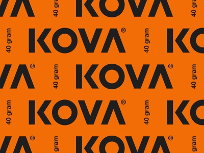 Kova® lockup vector wordmark typography identity branding logo