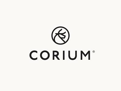 Corium® 02 lockup vector mark wordmark typography icon identity design branding logo