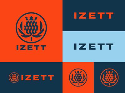 Thistle Concept 1 lockup wordmark color typography mark icon identity design branding logo
