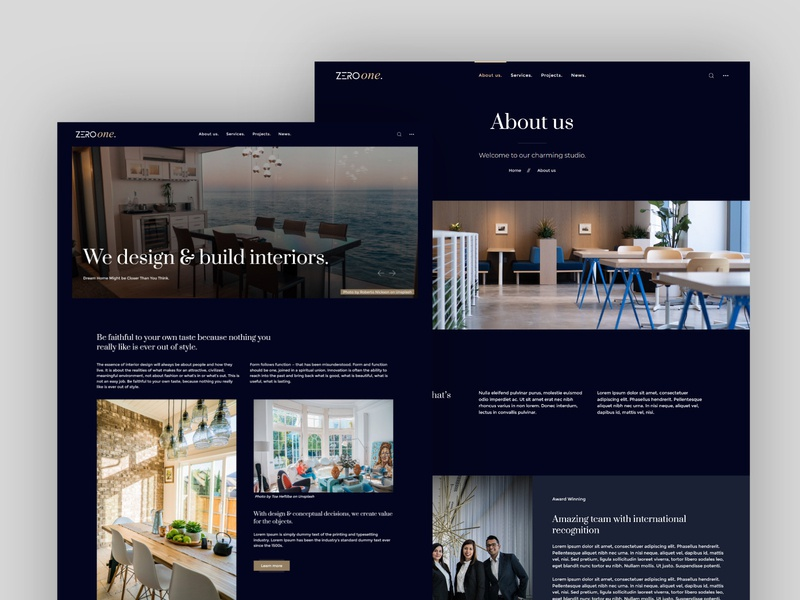 Black is the color of elegance ⚫ interior architecture interiors interior design architecture landing website dark mode kirby cms kirby theme elegant design elegant black dark theme dark ui dark